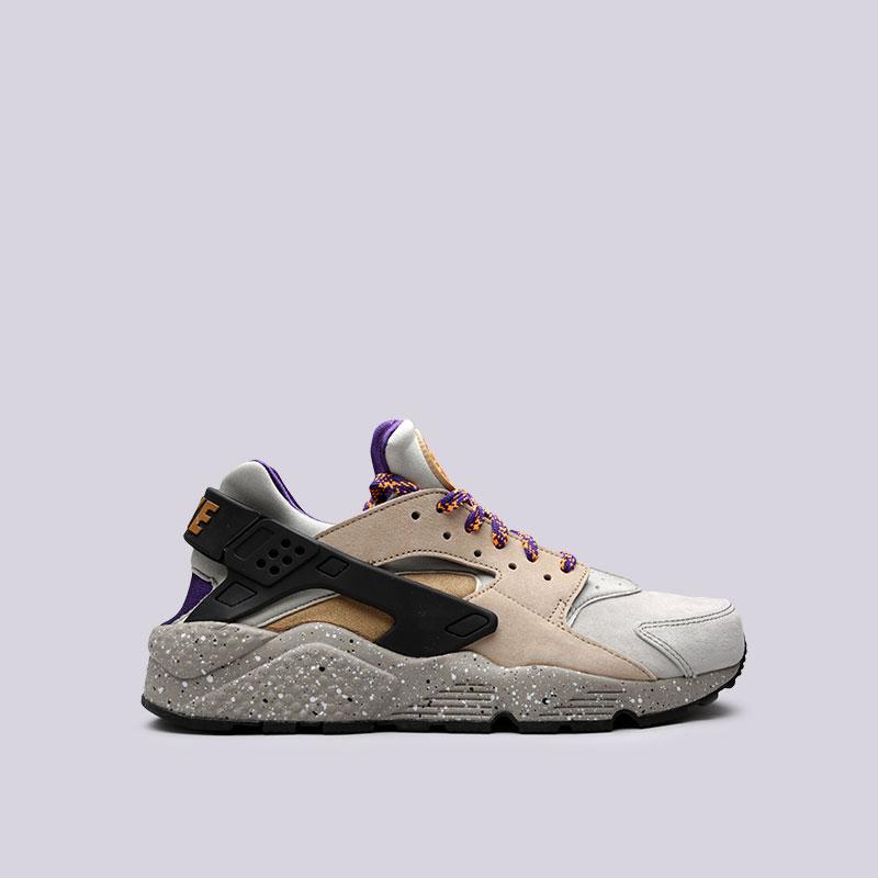 Кроссовки Nike Air Huarache Run PRMКроссовки lifestyle<br>Кожа, текстиль, резина, пластик<br><br>Цвет: Бежевый<br>Размеры US: 8<br>Пол: Мужской