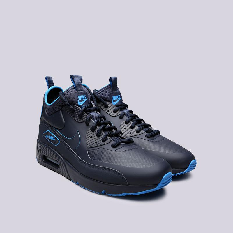 lowest price 45f5c 44003 мужские синие кроссовки nike air max 90 ultra mid winter se AA4423-400 -  цена