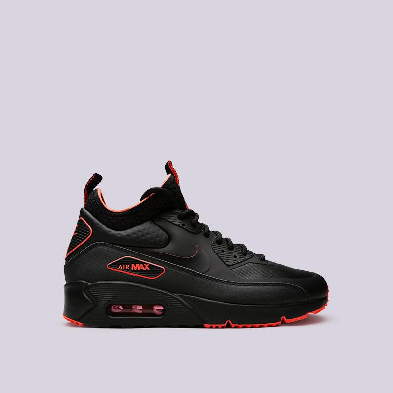 Кроссовки Nike Air Max 90 Ultra Mid Winter SEКроссовки lifestyle<br>Пластик, текстиль, резина<br><br>Цвет: Черный<br>Размеры US: 8;8.5;9;9.5;10;10.5;11;11.5;12;12.5;13;14;15<br>Пол: Мужской