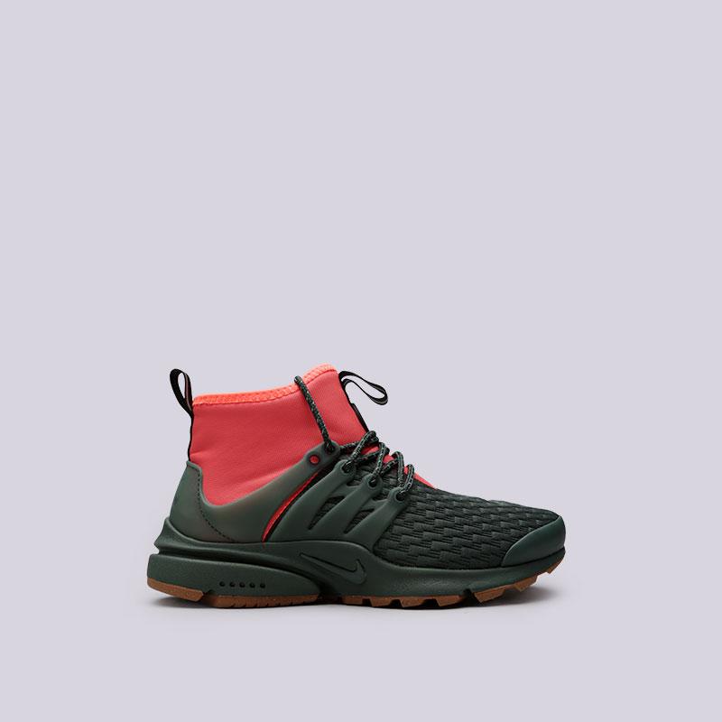 Кроссовки Nike WMNS Air Presto Mid Utility PRMКроссовки lifestyle<br>Текстиль, пластик, резина<br><br>Цвет: Зелёный<br>Размеры US: 6;7;8;9<br>Пол: Женский