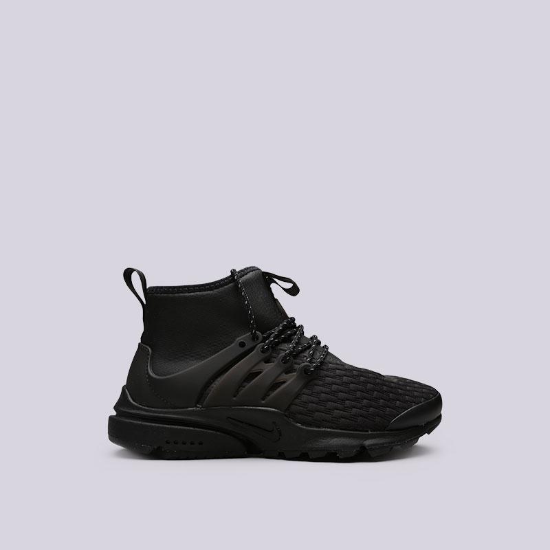 Кроссовки Nike WMNS Air Presto Mid Utility PRMКроссовки lifestyle<br>Текстиль, пластик, резина<br><br>Цвет: Черный<br>Размеры US: 7<br>Пол: Женский