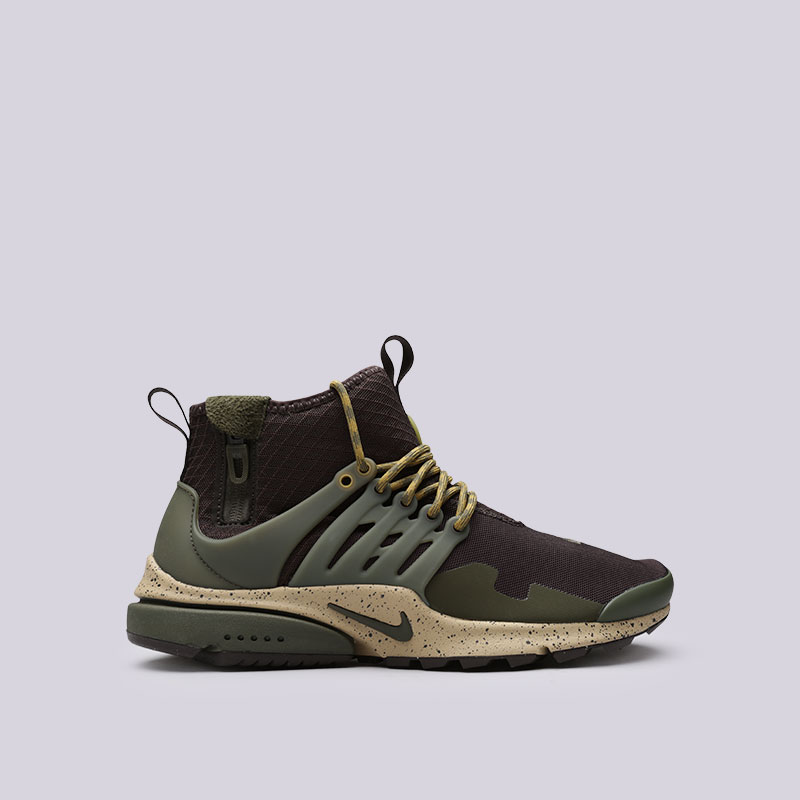 Кроссовки Nike Air Presto Mid UtilityКроссовки lifestyle<br>Текстиль, пластик, резина<br><br>Цвет: Зелёный<br>Размеры US: 8;11;12<br>Пол: Мужской