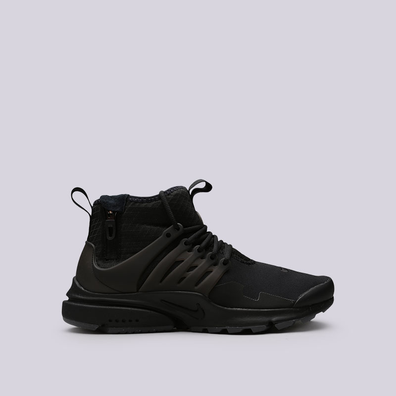 Кроссовки Nike Air Presto Mid UtilityКроссовки lifestyle<br>Текстиль, пластик, резина<br><br>Цвет: Черный<br>Размеры US: 8;11;12;14<br>Пол: Мужской