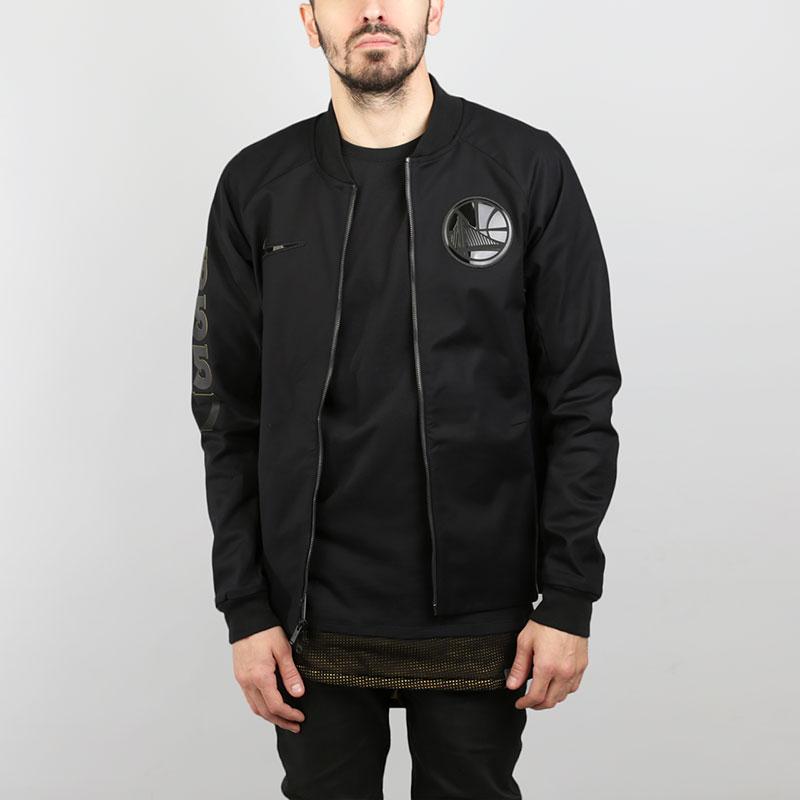 Куртка Nike Golden State Warriors ModernКуртки, пуховики<br>Хлопок, эластан, полиэстер<br><br>Цвет: Черный<br>Размеры US: S;M;L;XL;2XL<br>Пол: Мужской
