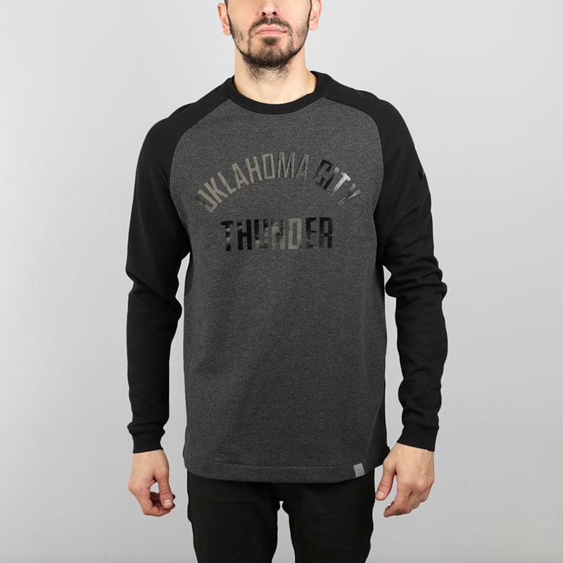 Толстовка Nike Oklahoma City Thunder Modern CrewТолстовки свитера<br>Хлопок, полиэстер<br><br>Цвет: Серый, черный<br>Размеры US: S;M;L;XL;2XL<br>Пол: Мужской