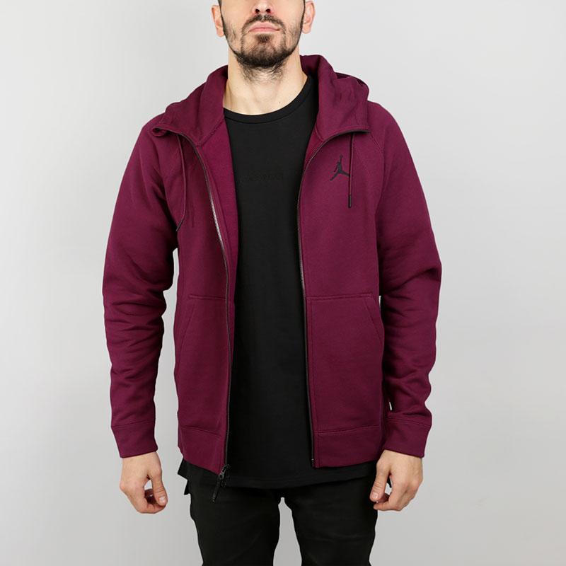 Толстовка Jordan Wings Fleece Full-Zip HoodieТолстовки свитера<br>Хлопок, вискоза, полиэстер<br><br>Цвет: Фиолетовый<br>Размеры US: 2XL<br>Пол: Мужской