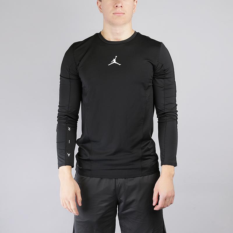 Лонгслив Jordan Flight LS Basketball TopКомпрессионное белье<br>90% полиэстер, 10% эластан<br><br>Цвет: Черный<br>Размеры US: S;M;L;XL;2XL<br>Пол: Мужской