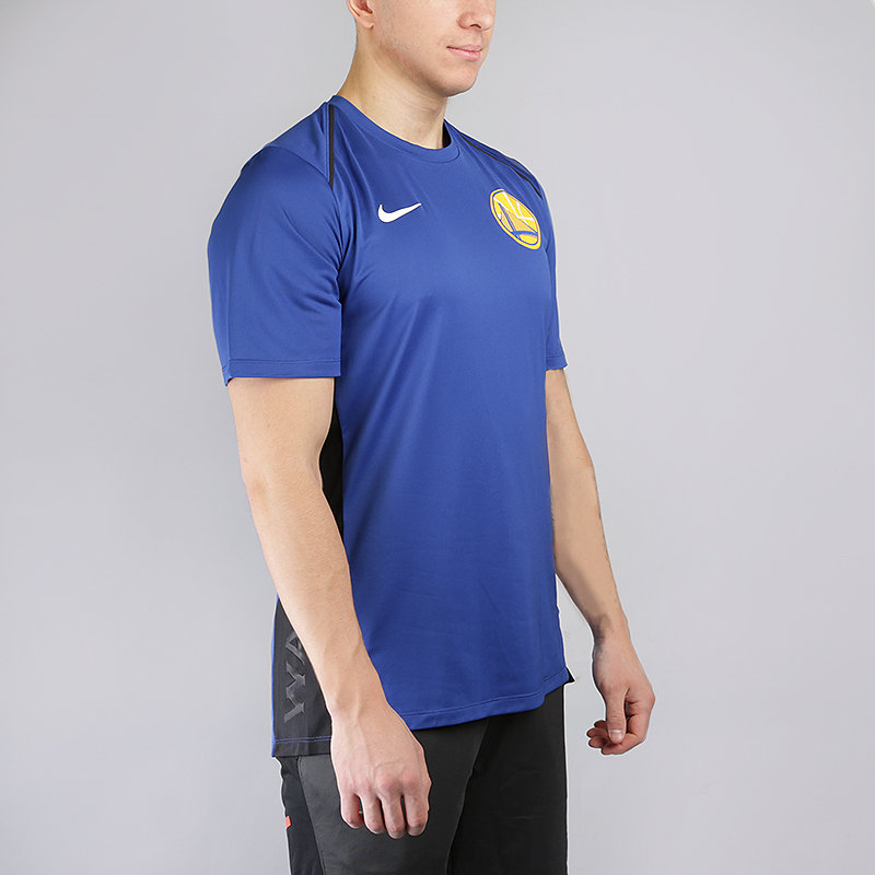 мужскую синюю  футболка nike golden state warriors dry hyper elite short-sleeve nba 856525-495 - цена, описание, фото 1