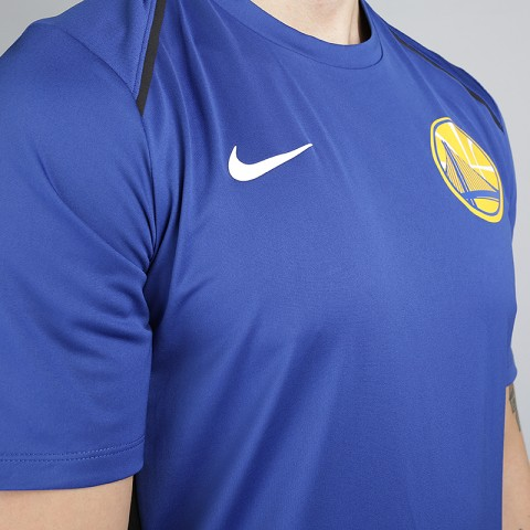 мужскую синюю  футболка nike golden state warriors dry hyper elite short-sleeve nba 856525-495 - цена, описание, фото 2