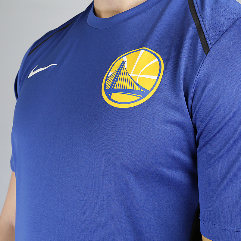 мужскую синюю  футболка nike golden state warriors dry hyper elite short-sleeve nba 856525-495 - цена, описание, фото 3