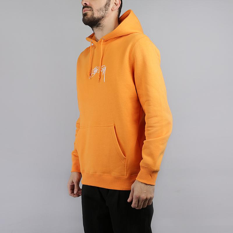 Толстовка Stussy Smooth Stock AppТолстовки свитера<br>80% хлопок, 20% полиэстер<br><br>Цвет: Оранжевый<br>Размеры US: S;M;L;XL<br>Пол: Мужской