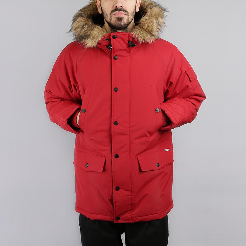 Куртка Carhartt WIP Anchorage ParkaКуртки, пуховики<br>100% нейлон, набивочный материал: 100% полиэстер<br><br>Цвет: Красный<br>Размеры : S;L;XL<br>Пол: Мужской