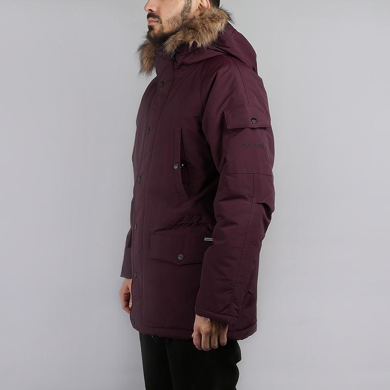 Куртка Carhartt WIP Anchorage ParkaКуртки, пуховики<br>100% нейлон, набивочный материал: 100% полиэстер<br><br>Цвет: Бордовый<br>Размеры : XL<br>Пол: Мужской