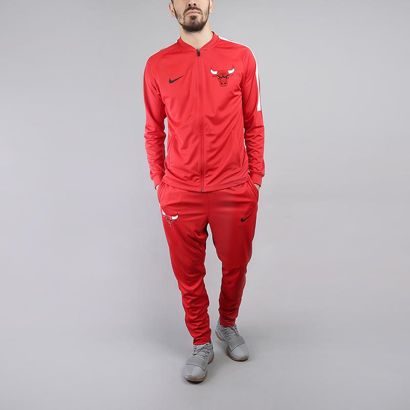 edc1c4fe мужской красный спортивный костюм nike chicago bulls dry nba track suit  923080-657 - цена