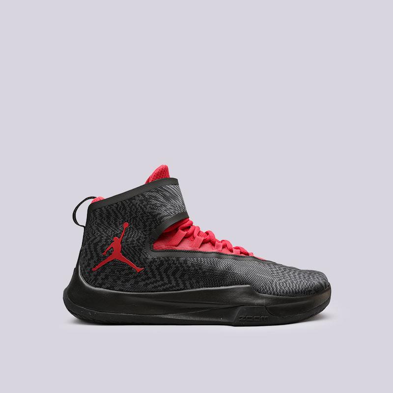 Кроссовки Jordan Fly UnlimitedКроссовки баскетбольные<br>Текстиль, пластик, резина<br><br>Цвет: Черный, красный<br>Размеры US: 8;8.5;9.5;13;14<br>Пол: Мужской