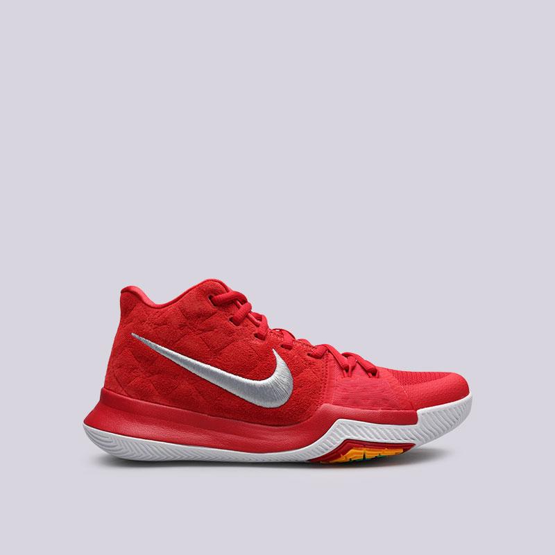 Кроссовки Nike Kyrie 3Кроссовки баскетбольные<br>Кожа, текстиль, пластик, резина<br><br>Цвет: Красный<br>Размеры US: 7;7.5;8;8.5;9;9.5;10;10.5;11;11.5;12;12.5;13;13.5;14;15<br>Пол: Мужской