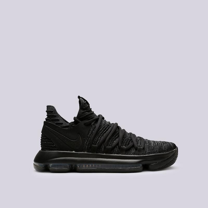 Кроссовки Nike Zoom KD 10Кроссовки баскетбольные<br>Текстиль, резина<br><br>Цвет: Черный<br>Размеры US: 7.5;8;8.5;9;9.5;10;10.5;11;11.5;12;12.5;13;13.5;14<br>Пол: Мужской