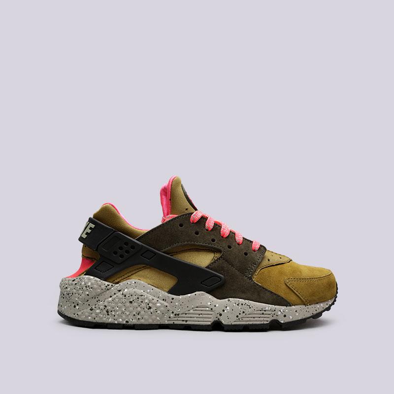 Кроссовки Nike Air Huarache Run PRMКроссовки lifestyle<br>Кожа, текстиль, резина, пластик<br><br>Цвет: Зелёный, розовый<br>Размеры US: 10<br>Пол: Мужской