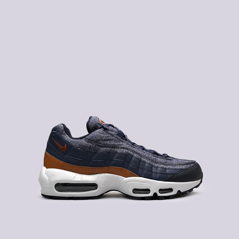 Кроссовки Nike Air Max 95 PRMКроссовки lifestyle<br>Синтетика, текстиль, резина, пластик<br><br>Цвет: Синий<br>Размеры US: 8;8.5;9;9.5;10;10.5;11;11.5;12<br>Пол: Мужской