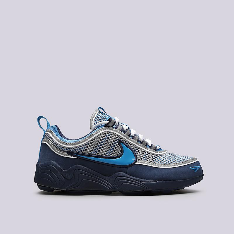 Кроссовки Nike Air Zoom Spiridon `16 / STASHКроссовки lifestyle<br>Кожа, текстиль, резина, пластик<br><br>Цвет: Синий<br>Размеры US: 5;6;6.5;7;9;10;11;11.5;12