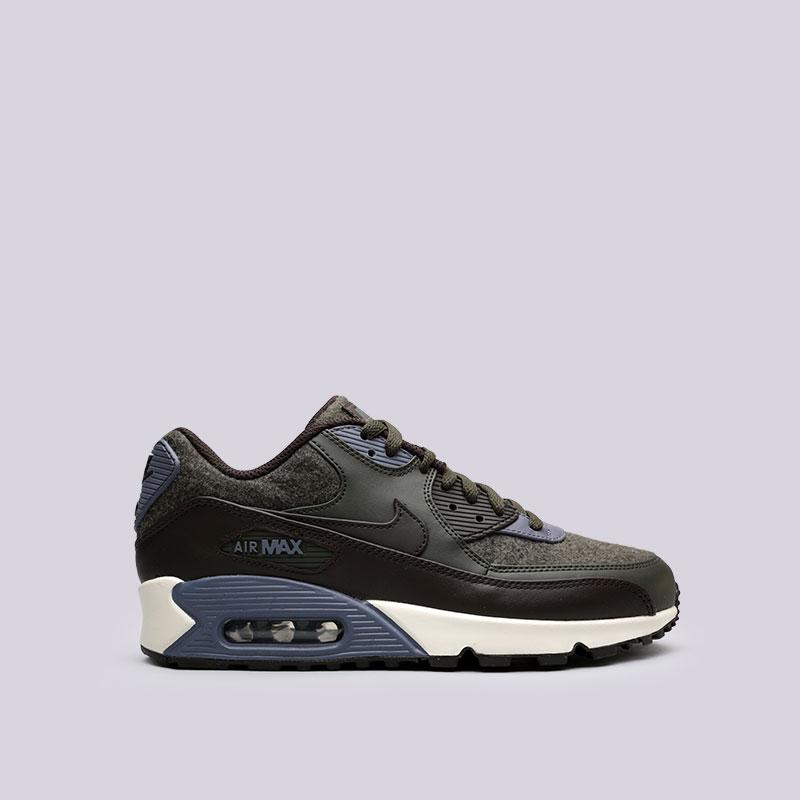 Кроссовки Nike Air Max 90 PremiumКроссовки lifestyle<br>Кожа, синтетика, текстиль, резина<br><br>Цвет: Зелёный<br>Размеры US: 8;8.5;9;9.5;10;10.5;11;11.5;12;12.5;13;14<br>Пол: Мужской
