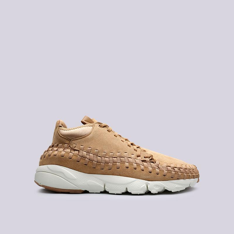 Кроссовки Nike Air Footscape Woven ChukkaКроссовки lifestyle<br>Кожа, текстиль, пластик, резина<br><br>Цвет: Коричневый<br>Размеры US: 14<br>Пол: Мужской