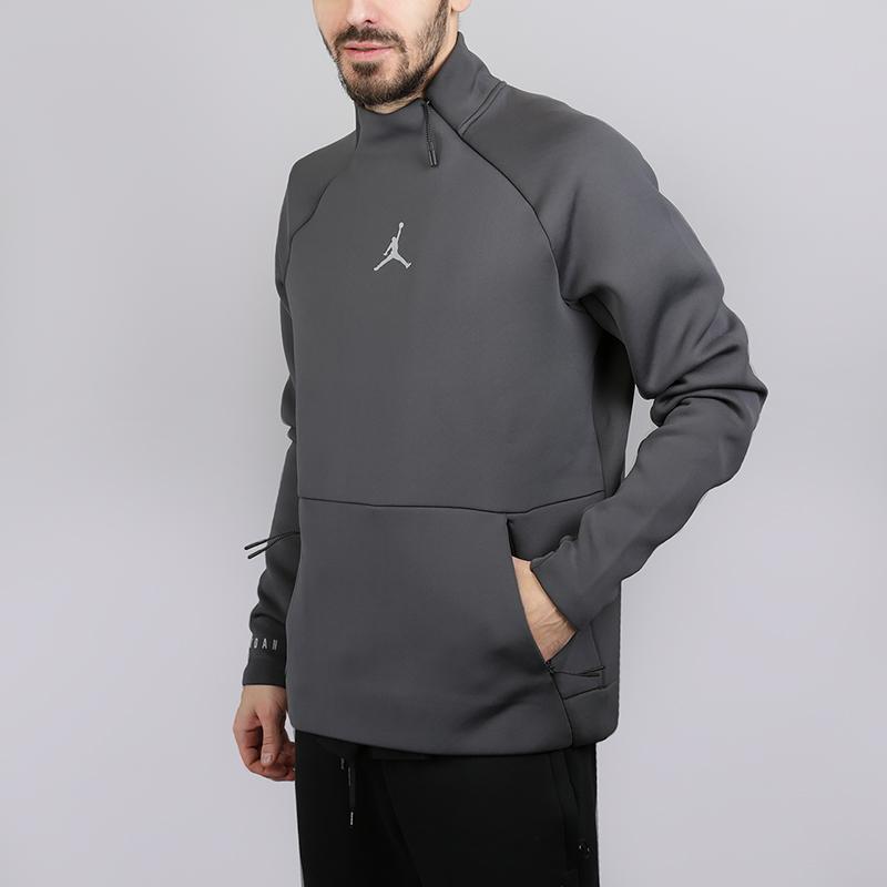 Толстовка Jordan Therma Sphere Max 23 Tech Training TopТолстовки свитера<br>86% полиэстер,14% эластан<br><br>Цвет: Серый<br>Размеры US: S;XL;2XL<br>Пол: Мужской