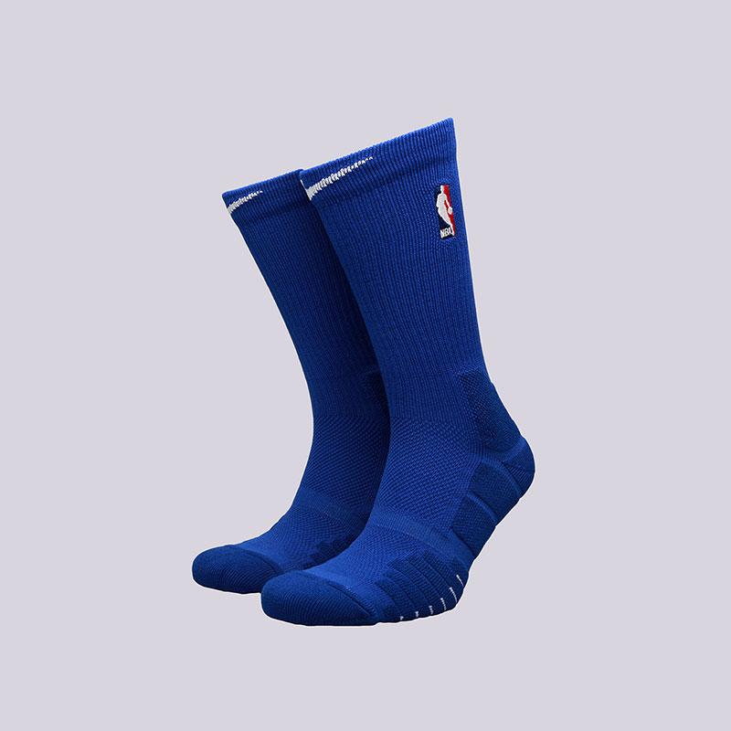Носки Nike Elite Quick CrewНоски<br>Полиэстер, нейлон, хлопок, эластан<br><br>Цвет: Синий<br>Размеры US: L;XL<br>Пол: Мужской