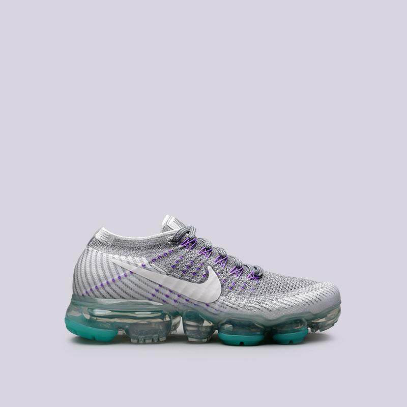 Кроссовки Nike WMNS Air Vapormax Flyknit EКроссовки lifestyle<br>Пластик, текстиль, резина<br><br>Цвет: Серый<br>Размеры US: 6;6.5;7;7.5;8;9<br>Пол: Женский