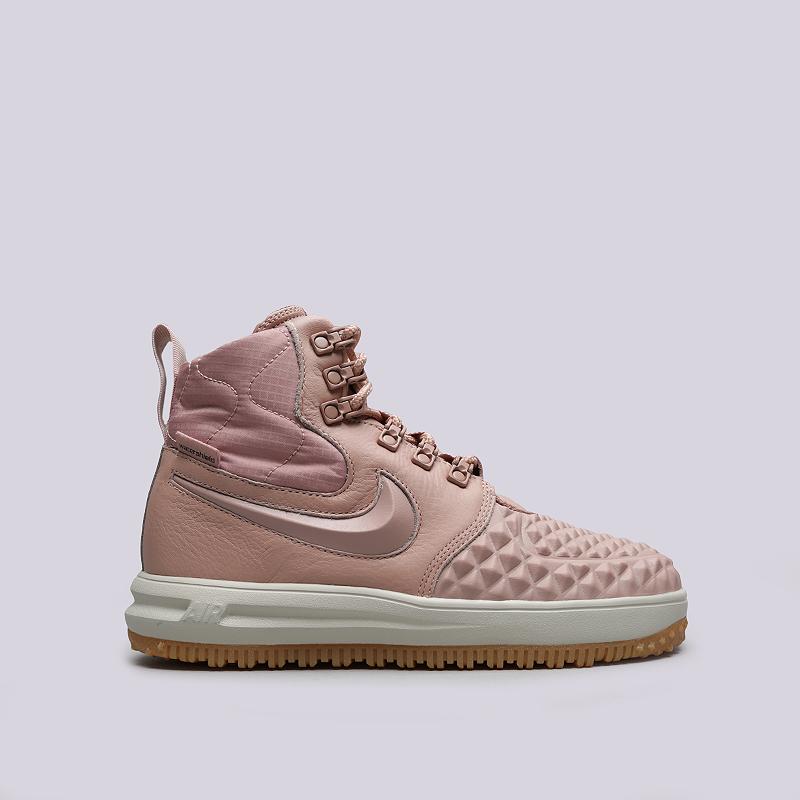 Ботинки Nike WMNS LF1 DuckbootБотинки<br>Кожа, синтетика, текстиль, резина<br><br>Цвет: Розовый<br>Размеры US: 6;6.5;7;7.5;8.5;9<br>Пол: Женский