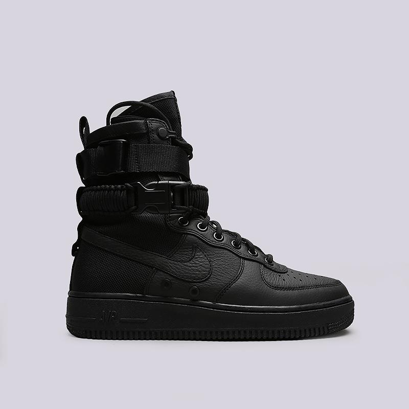 Кроссовки Nike SF Air Force 1Кроссовки lifestyle<br>Кожа, текстиль, резина, пластик<br><br>Цвет: Черный<br>Размеры US: 8<br>Пол: Мужской