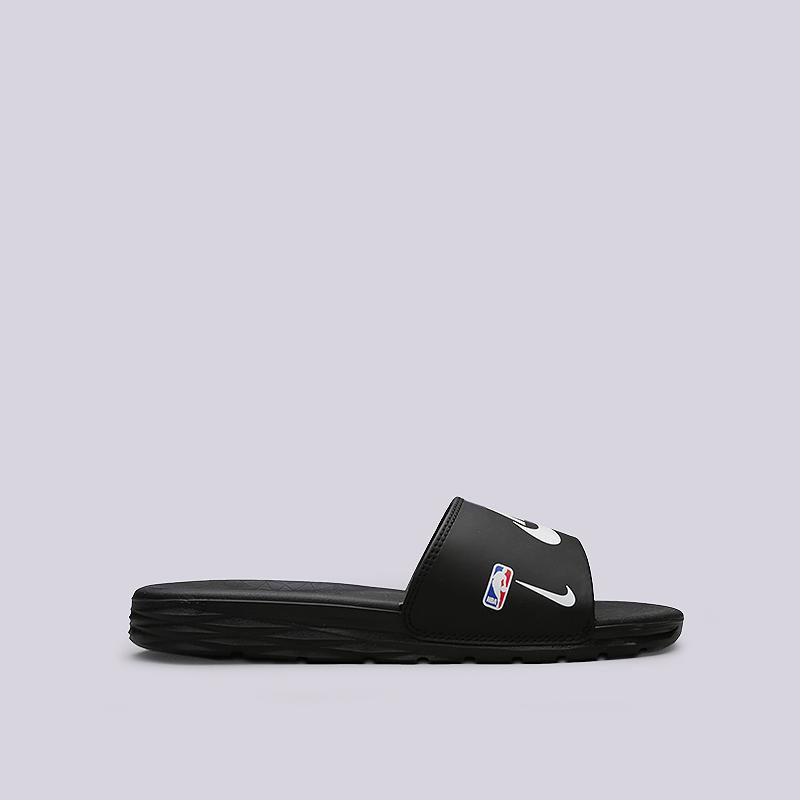 Сланцы Nike Benassi Solarsoft NBAСланцы, балетки<br>Синтетика, текстиль, пластик<br><br>Цвет: Черный<br>Размеры US: 5;6;7;8;9;12;13;14