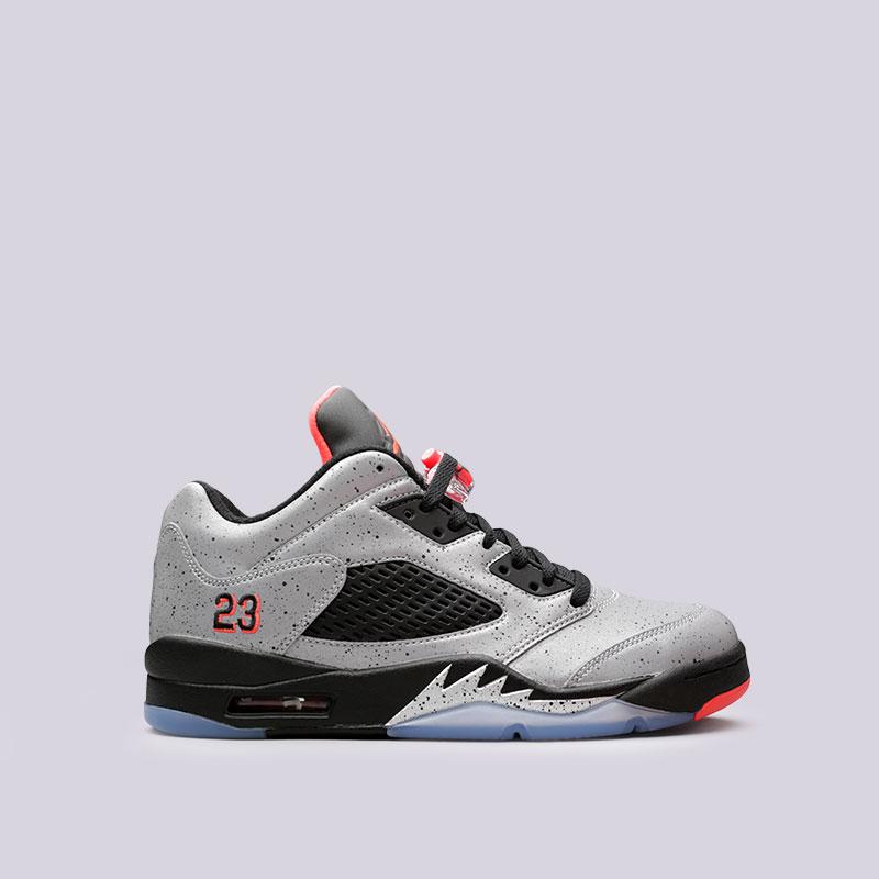 Кроссовки Jordan V Retro Low NeymarКроссовки lifestyle<br>Синтетика, текстиль, резина<br><br>Цвет: Серый<br>Размеры US: 12.5;16<br>Пол: Мужской