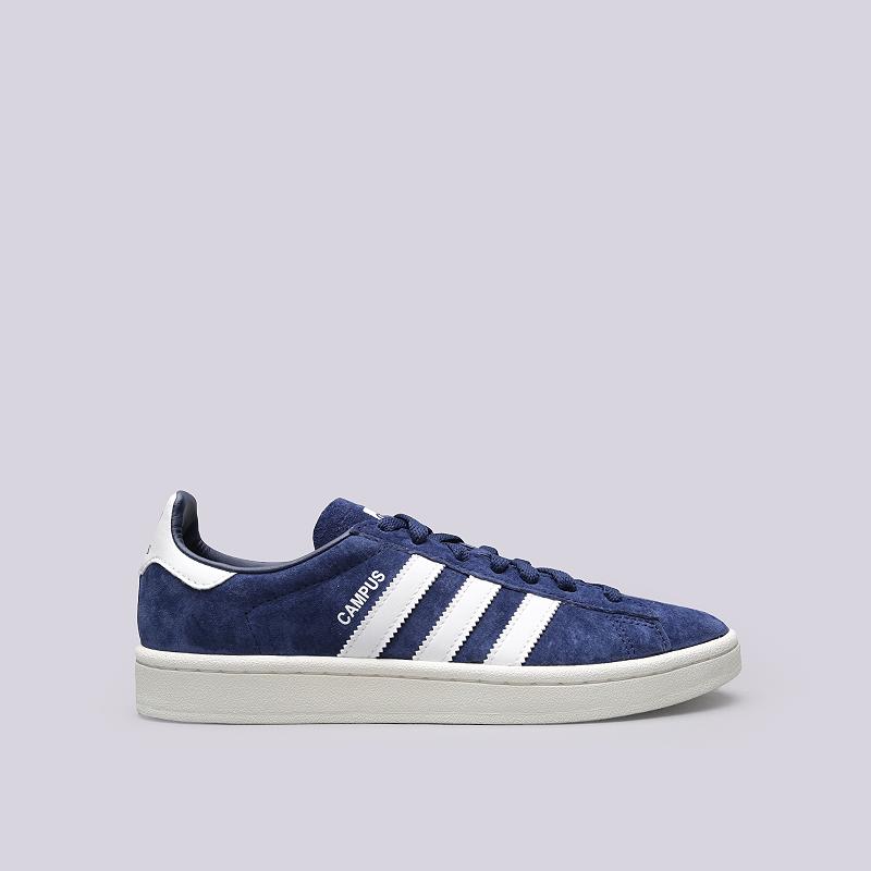 Кроссовки adidas CampusКроссовки lifestyle<br>Кожа, текстиль, резина<br><br>Цвет: Синий<br>Размеры UK: 7.5;8;8.5;9;9.5;10;10.5;11;11.5<br>Пол: Мужской