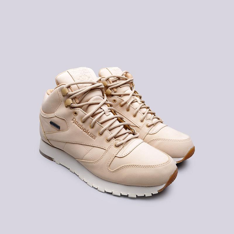 Мужские кроссовки CL LTHR Mid GTX Thin от Reebok (BS7882) оригинал купить по цене 7790 руб. в интернет магазине Streetball