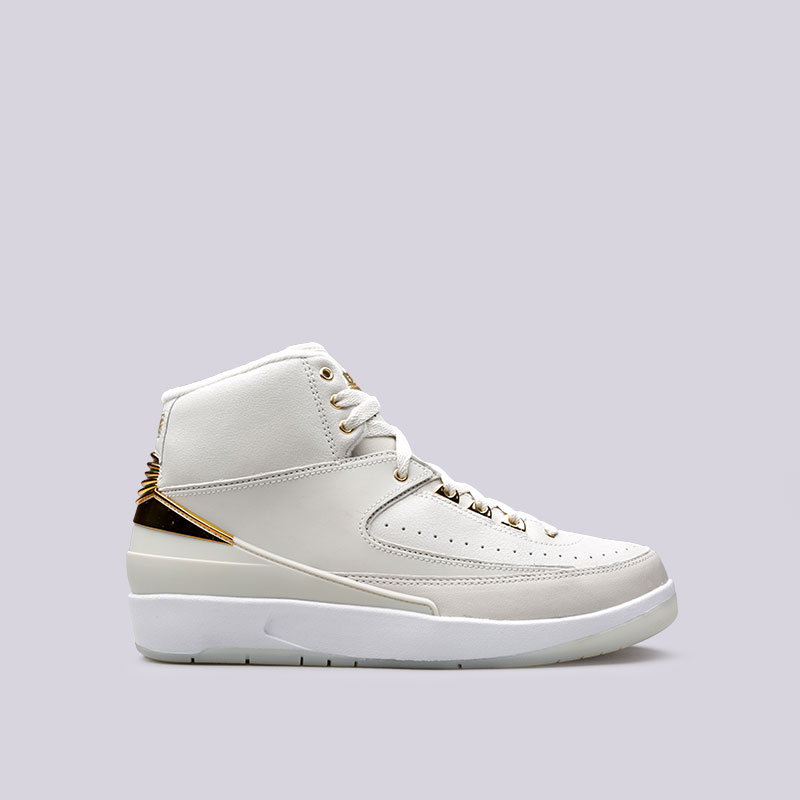 Кроссовки Jordan II Retro Q54Кроссовки lifestyle<br>Кожа, пластик, текстиль, резина<br><br>Цвет: Бежевый<br>Размеры US: 10.5;12;12.5;8<br>Пол: Мужской