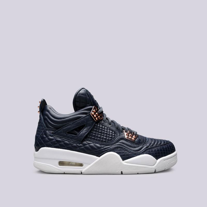 Кроссовки Jordan IV Retro PremiumКроссовки lifestyle<br>Кожа, резина<br><br>Цвет: Синий<br>Размеры US: 7<br>Пол: Мужской
