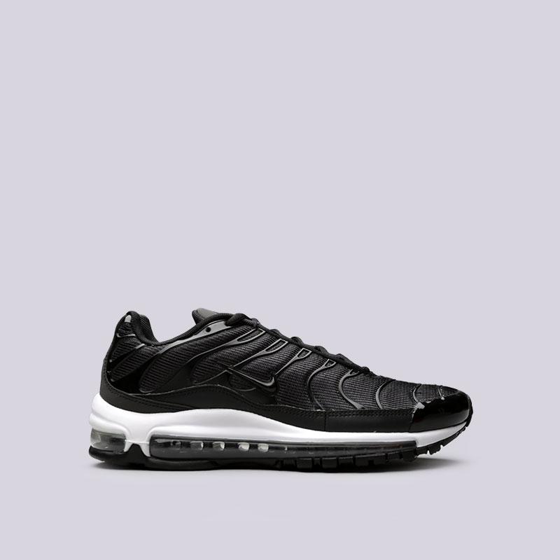 Кроссовки  Nike Air Max 97 / PlusКроссовки lifestyle<br>Текстиль, синтетика, резина<br><br>Цвет: Черный<br>Размеры US: 8;8.5;9;9.5;10;11;12<br>Пол: Мужской