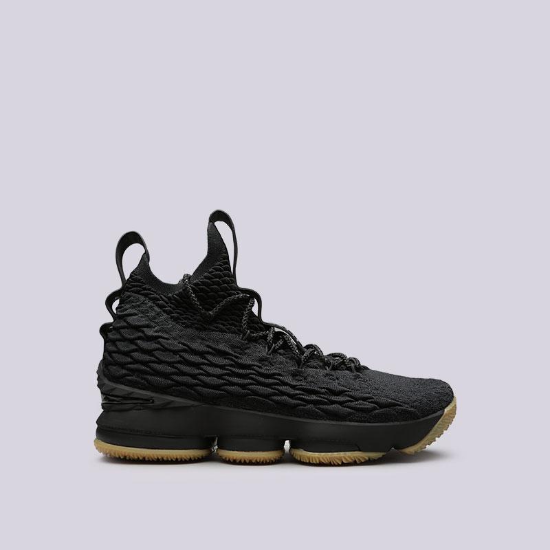 Кроссовки Nike Lebron XVКроссовки баскетбольные<br>Текстиль, синтетика, резина<br><br>Цвет: Черный<br>Размеры US: 8;8.5;10;12<br>Пол: Мужской