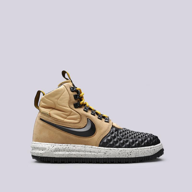Кроссовки Nike Lunar Force 1 Duckboot 17Кроссовки lifestyle<br>Кожа, синтетика, текстиль, резина<br><br>Цвет: Коричневый, чёрный<br>Размеры US: 8;8.5;9;10;10.5;11;11.5;12<br>Пол: Мужской
