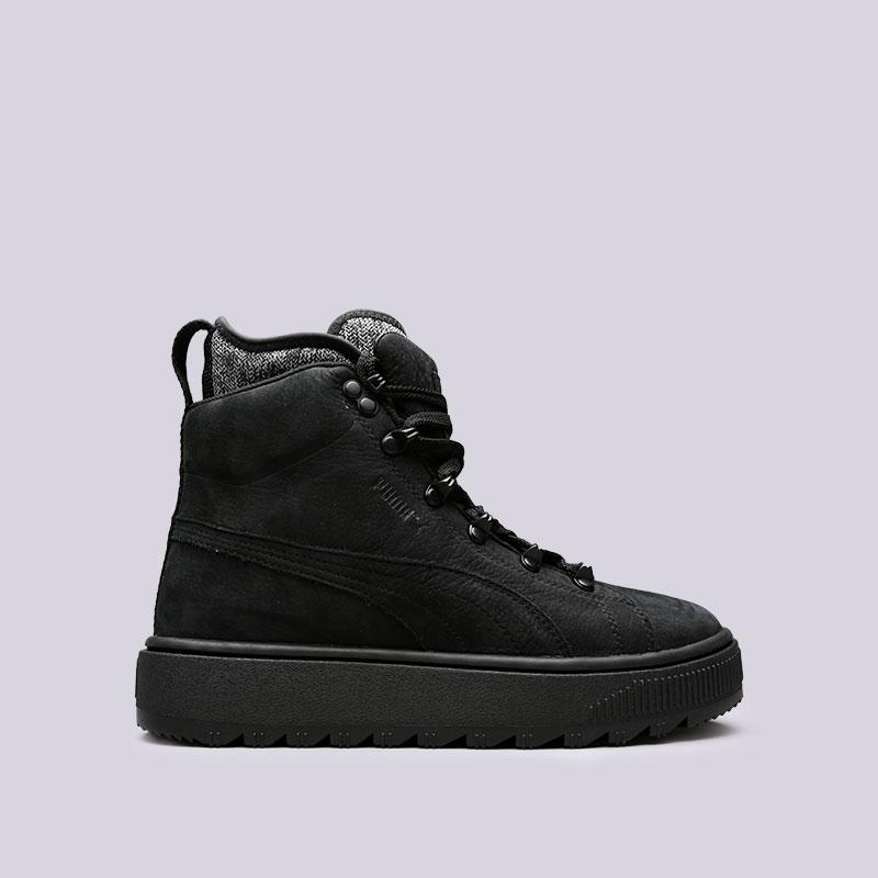 Кроссовки Puma Ren Boot TrapStarБотинки<br>Кожа, текстиль, резина<br><br>Цвет: Черный<br>Размеры UK: 8