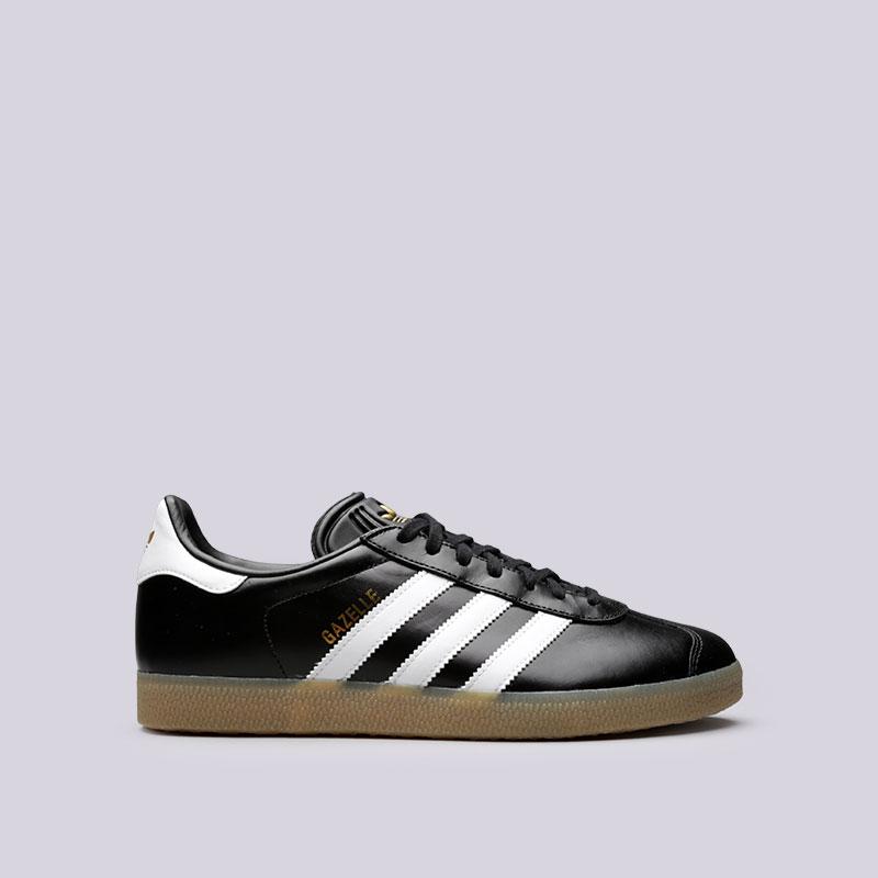 Кроссовки adidas GazelleКроссовки lifestyle<br>Кожа, синтетика, текстиль, резина<br><br>Цвет: Черный<br>Размеры UK: 7.5;8;8.5;9;9.5;10;10.5;11;11.5<br>Пол: Мужской