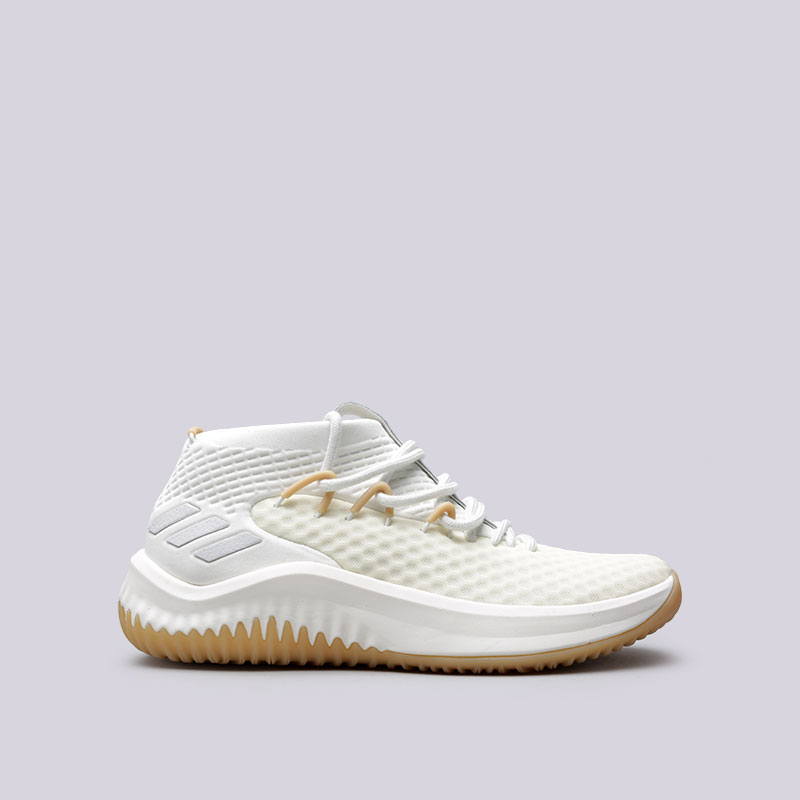 Кроссовки adidas Dame 4Кроссовки баскетбольные<br>Текстиль, резина<br><br>Цвет: Бежевый<br>Размеры UK: 8;14<br>Пол: Мужской