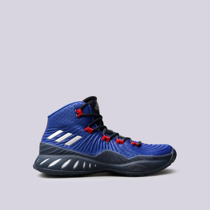 Кроссовки adidas Crazy Explosive 2017Кроссовки баскетбольные<br>Текстиль, синтетика, резина<br><br>Цвет: Синий<br>Размеры UK: 10;10.5;11;6;7;7.5;8;8.5;9;9.5<br>Пол: Мужской