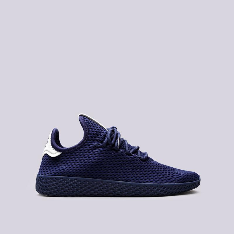 Кроссовки adidas PW Tennis HUКроссовки lifestyle<br>Текстиль, кожа, резина<br><br>Цвет: Синий<br>Размеры UK: 8;8.5<br>Пол: Мужской