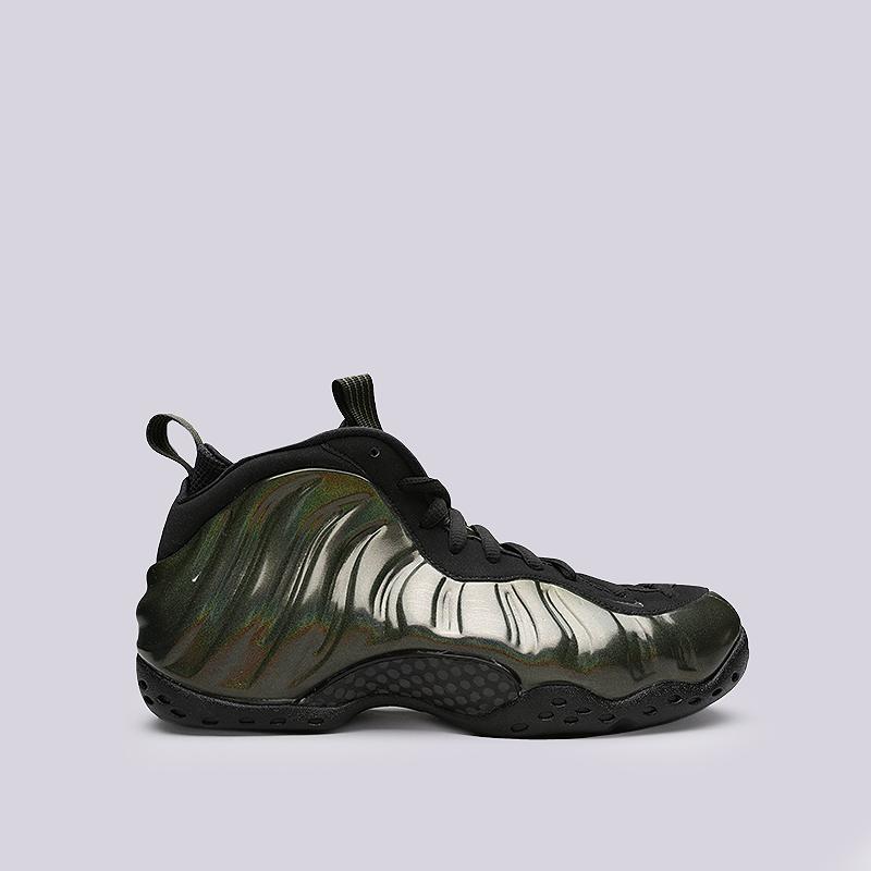 Кроссовки Nike Air Foamposite OneКроссовки lifestyle<br>Синтетика, текстиль, резина<br><br>Цвет: Черный<br>Размеры US: 8;8.5;9.5;10;11.5<br>Пол: Мужской
