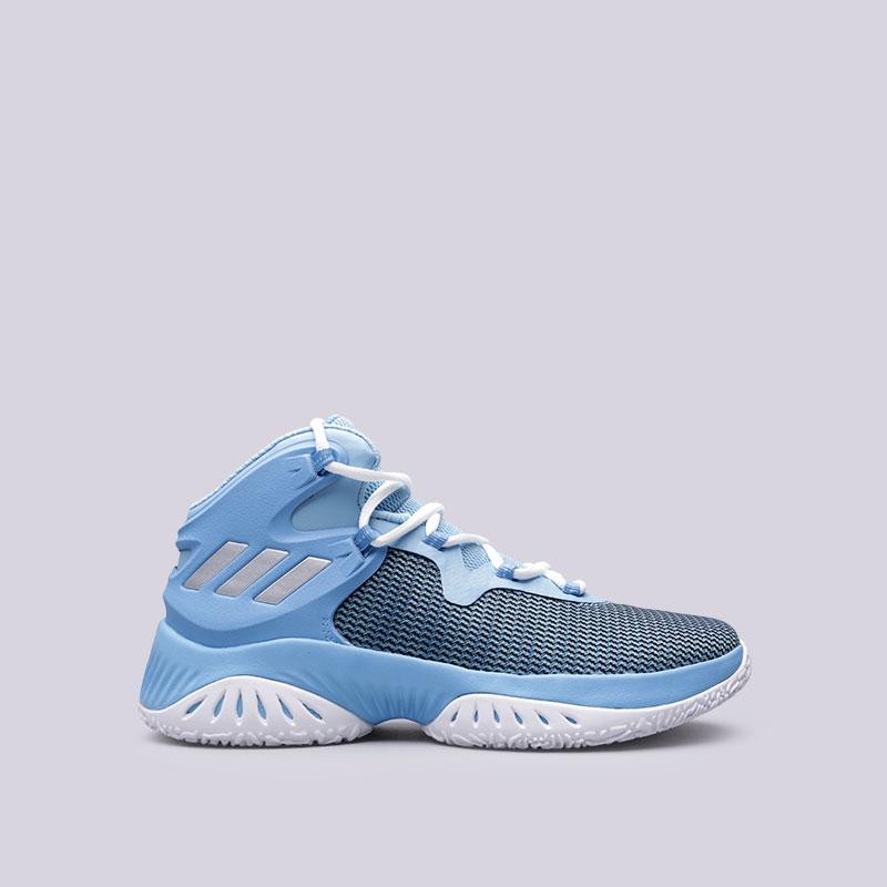 Кроссовки adidas Explosive BounceКроссовки баскетбольные<br>Текстиль, синтетика, резина<br><br>Цвет: Голубой<br>Размеры UK: 8.5