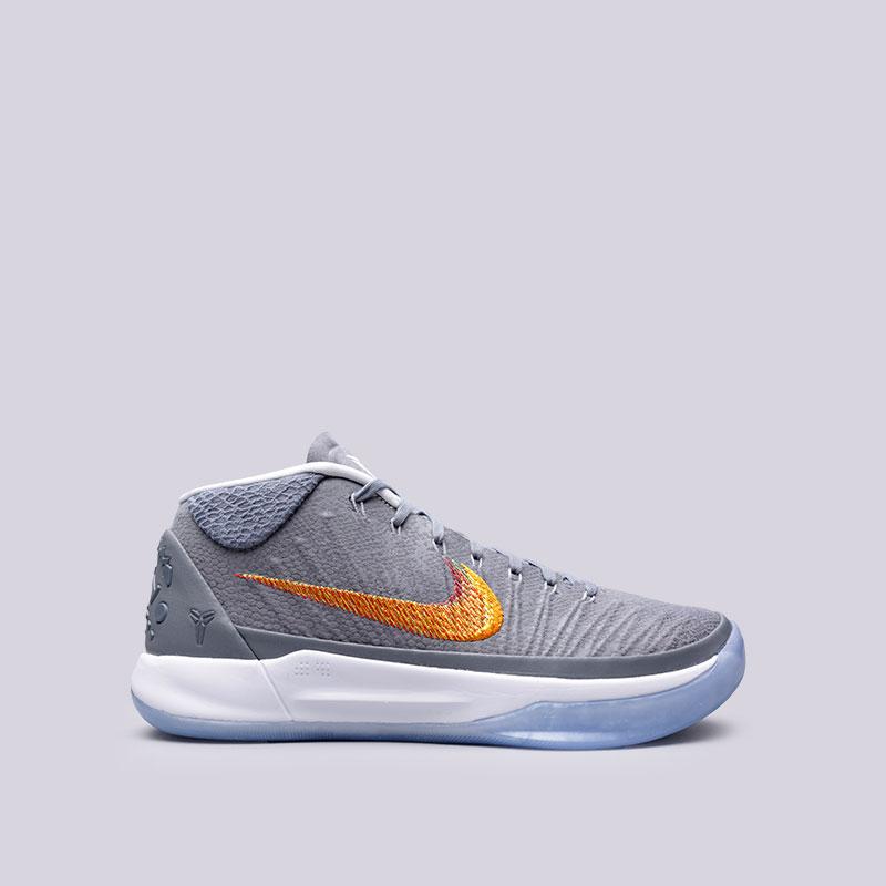 Кроссовки  Nike Kobe A.D.Кроссовки баскетбольные<br>Текстиль, синтетика, резина, пластик<br><br>Цвет: Серый<br>Размеры US: 8;8.5;9;9.5;10;10.5;11;11.5;12.5;13<br>Пол: Мужской