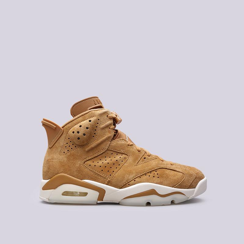 Кроссовки Jordan VI RetroКроссовки lifestyle<br>Кожа, текстиль, резина<br><br>Цвет: Коричневый<br>Размеры US: 12.5<br>Пол: Мужской