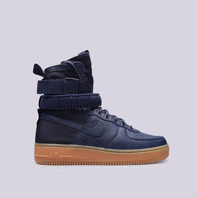 Кроссовки Nike SF Air Force 1Кроссовки lifestyle<br>Кожа, текстиль, резина<br><br>Цвет: Синий<br>Размеры US: 8;8.5;9;9.5;10.5;11;11.5;12<br>Пол: Мужской